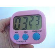 Timer Temporizador Digital Progressivo Regressivo Rosa Azul