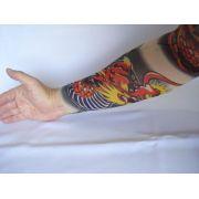 Manga Tatuada Dragão 2 Tatuagem Tatoo Spandex 058