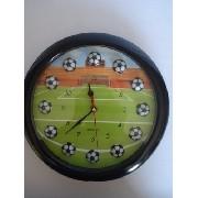 Relógio De Parede 3d Jogo De Futebol Campo Bola