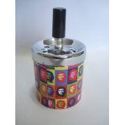 Cinzeiro Che Guevara Decoração Metal Cigarro