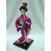 Boneca Gueixa Japonesa Kimono Pink Oriental Decoração