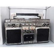 Cofre Resina Radio 3 Em 1 Antigo Fita K7 Vintage Retro