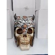 Cofre Cranio Caveira Guerreia Vikings