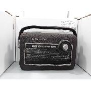Cofre Resina Radio A Pilha Antigo Vintage Retro
