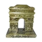 Arco Do Triunfo Mini Paris Metal Enfeite Luxo Dourado Retro