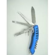 Canivete Faca Multiuso Azul 9 Funções