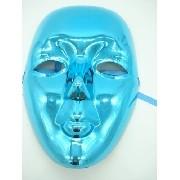 Mascara Sem Face Azul Carnaval Haloween Festas Disfarce