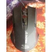 Mouse Optico R Noise Gamer 3200dpi Alta Precisão Preto