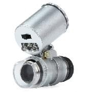 Lupa Mini Microscópio 60x Luz Led Uv Mg9882