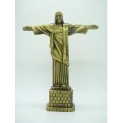 Miniatura Estatua Cristo Redentor Rio Metal Enfeite Luxo