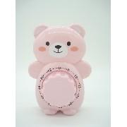 Timer Temporizador Urso Rosa Cronometro Regressivo Bear