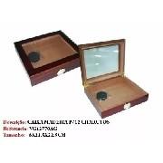 Caixa Para 12 Un Charuto Madeira Importada Medindo 8x21x22cm