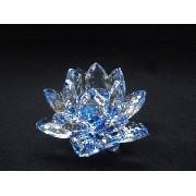 5 Peças Flor D Lótus Cristal 2 Azul 1 Roxa 1 Amarela 1verde