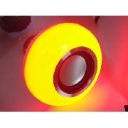 Lampada Luz Led Rgb Bluetooth Caixa Som + Controle Remoto