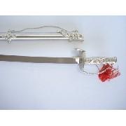 Espada Medieval Dragão 86cm Prateada