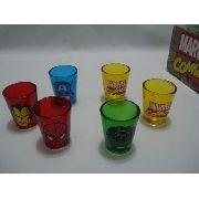 Conjunto Copos Drink Vingadores Coleção Marvel Hq
