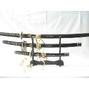 Conjunto 3 Espadas Samurai Hattori Hanzo Kill Bill