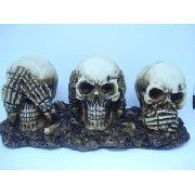 Enfeite Caveira Trio Crânios Surdo Mudo Cego