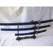 Conjunto 3 Espadas Samurai Sabre Japones Azul Sa022bl 3