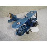 Avião Batalha Miniatura Metal Azul Red Target