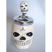 Cinzeiro Caveira Cranio Branco Decoração Esqueleto