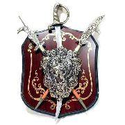 Enfeite Decorativo Medieval Brasão Retro Vintage Coleção