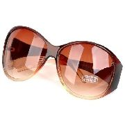 Óculos Grande Marrom Uv 400