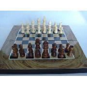 Jogo De Xadrez Dama E Gamão 34x34cm Luxo Grande Dsc04334-1