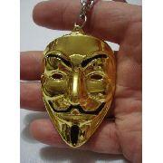 Chaveiro V De Vingança Vendetta Dourado Mascara