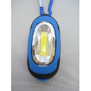 Chaveiro Lanterna Led Mosquetão Azul