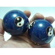 Esferas Terapeuticas Bolas Azul Yin Yang Massagem Chinesas