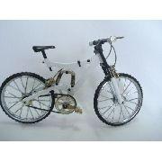 Miniatura Bicicleta Branca Track Bike Miniatura