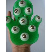 Luva Massagem Verde Claro Relaxamento Estética 9 Esferas