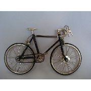 Bicicleta Miniatura Bike Mini Preta Coleção
