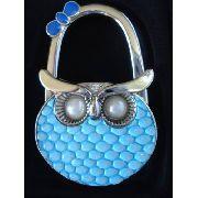 Gancho Para Pendurar Bolsa Coruja Azul Dobrável Cabide