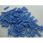 Pregador Azul Mini Prendedor 100 Peças Organizador