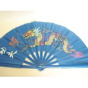 Leque Oriental Blue Dragon Dança Kung Fu Tai Chi Chuan