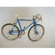 Bicicleta Miniatura Azul Claro Track Moutain Bike Mini