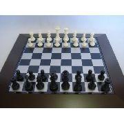 Jogo Xadrez E Damas Luxo Grande Dsc02827-2