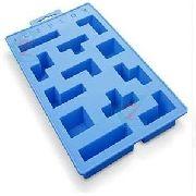 Forma De Gelo Silicone Iceblox Peças Tetris