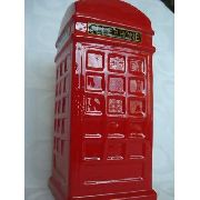 Cofre Cabine Telefone Londres Resina Retro/vintage