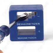 Cubo Desmagnetizador De Ferramentas 2 Em 1