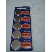 Bateria Sony Cr2032 Lithium 3v 5 Peças