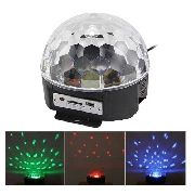 Bola Maluca Led Rgb Crystalball Balada Festa Mp3 Magic Ball