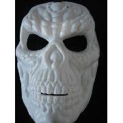 Mascara Haloween Esqueleto Skull Caveira Branca
