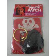 Conjunto Pirata Tapa Olho + Lenço + Brinco