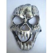 Mascara Haloween Esqueleto Silver Skull Caveira