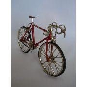 Miniatura Bicicleta Vermelha Vintage Corrida Mini Bike