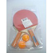 Kit Ping Pong Tênis Mesa 2 Raquetes 3 Bolinhas
