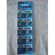 Bateria Premium Lr44 1.5v 10 Peças Alcalina